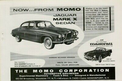 1962 Jaguar Mark X Sedan Maserati 3500 GT Convertible Car Vintage Print Ad