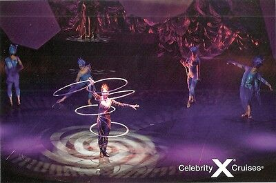Celebrity Cruises   Post Card  Stage Show