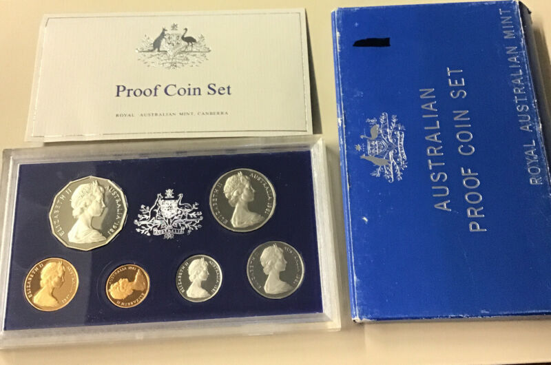 1981 Australia Royal Australian Mint 6 Coin Proof Set W. Oz And CoA