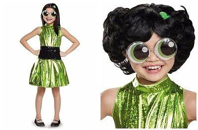 PowerPuff Girls Buttercup Deluxe Shimmer Dress Kids Costume  7-8 - Power Puff Girls Costumes