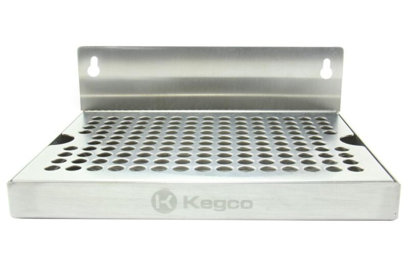 "Kegco SEWM-86 8"" Wall Mount Drip Tray - No Drain"