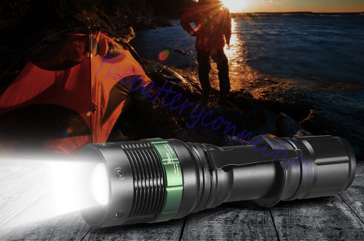 2X 10000 Lumen Zoomable CREE XML T6 LED Flashlight Torch Tactical Light Aluminum Camping & Hiking