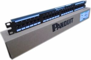 PANDUIT DP245E88TGY 24-port Patch Panel Loaded Cat5e