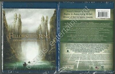 Lord Of The Rings  Fellowship Of The Ring  Blu Ray  2012  5 Disc Extended  New