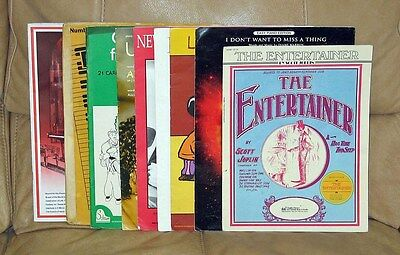 Piano Sheet Music and Books – Entertainer, Linus & Lucy, Billy Joel, Alicia Keys on Rummage