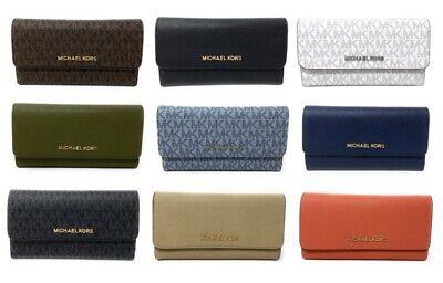 Michael Kors Jet Set Travel Large Trifold Leather/PVC Wallet ()
