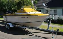 FISHING AND FAMILY BOAT - HALF CABIN WITH NEW MOTOR AND TRAILER Dee Why Manly Area Preview