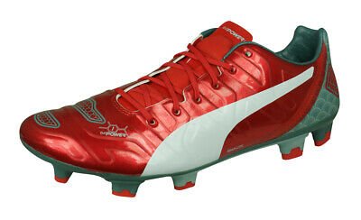 Puma evoPOWER 1.2 Graphic FG Mens Firm Ground Football Boots Soccer Shoes Red