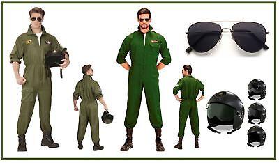 ieger Kostüm Jet Pilot Top Gun Kampfflieger Kampfjet , (K) (Top Gun Flieger Kostüm)