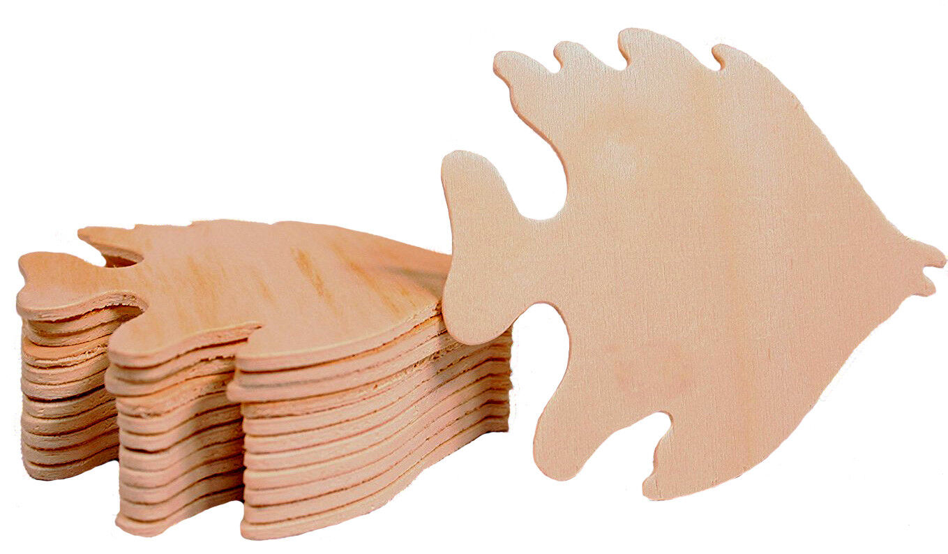 Creative Hobbies® Unfinished Wood Fish Cutout Shapes, 3.5″ Wide, Pack of 12 Crafting Pieces