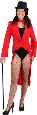 roter Frack zum Damen Show Kostüm an Karneval - Roter Frack Kostüm