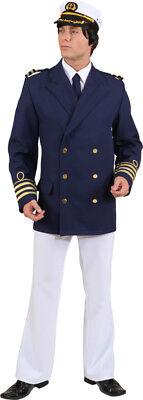 Admiral Jacke in blau zum Herren Kostüm Kapitän zu Karneval Fasching - Admiral Jacke Kostüm