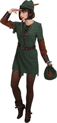 Damen Kostüm Robin Hood Lady mit Hut zu Karneval Fasching