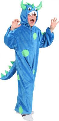 Monster Kinder Kostüm in blau-grün zu Karneval Fasching Halloween
