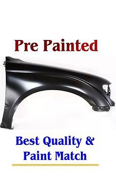 New PRE PAINTED Passenger RH Fender for 2001-2004 Toyota Tacoma models W/O Flare