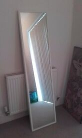 Full Length White Mirror and Small Mirror