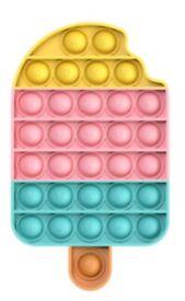 Icecream Rainbow-Big Push Pop Bubble Sensory Fidget Special Needs Kids Toy It Silent Autism
