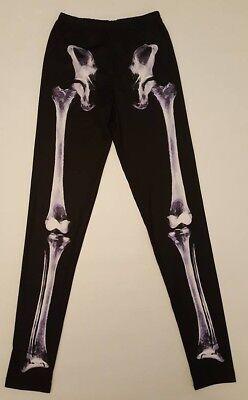 PRIMARK Ladies Girls Halloween X RAY SKELETON Goth Gothic Leggings UK 8 New - Girls Skeleton Leggings