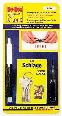 Re-key Schlage C Type Lock Kit Prime-line E-2402 Rekey Set Up To 6 Locks 3 - Mh
