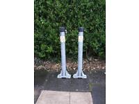 2 x folding parking posts