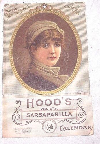 1896 HOODS SARSAPARILLA CALENDAR FULL PAD