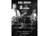Doc Snipp are hiring: drummer wanted
