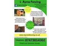 L AYRES FENCING FENCE INSTALLER! fences, gates, sheds