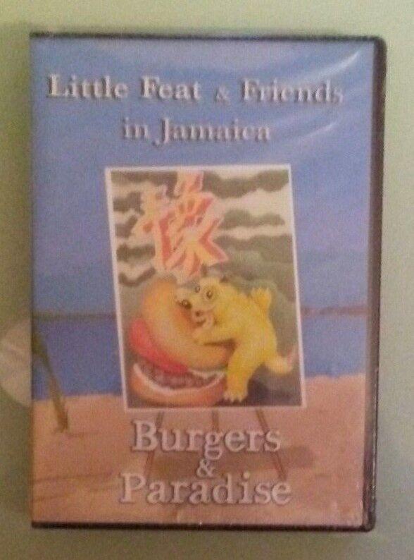 little feat friends in jamaica BURGERS & PARADISE DVD NEW extra shrinkwrap wear
