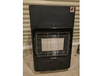 Portable gas heater fire