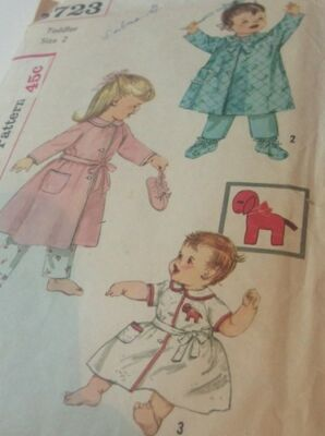 Simplicity 3723 Toddler Pattern Robe Booties Size 2 Transfer Peter Pan Collar](Plus Size Peter Pan Costume)