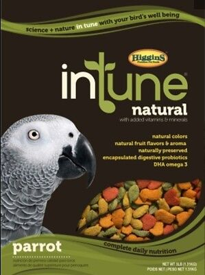Higgins Intune Parrot natural pellet diet, bird food 3lb