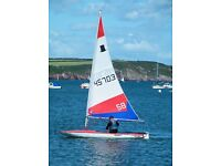 Topper sailing dingy with road trailer / trolley