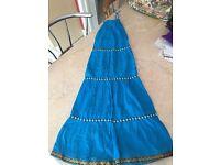 Long Skirt Blue