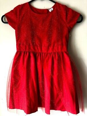 Carter's Red Sparkly Dress Infant Toddler Girls Size 4T Christmas Brand New - 4t Christmas Dresses
