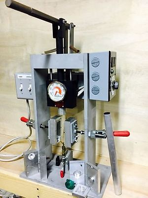 Iasco - Tesco Blowtron 99M 1oz Manual Benchtop Blow Molding Machine & Molds Used