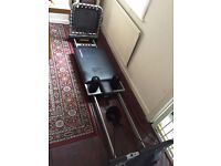 Aeropilates reformer with rebounder and pull up bar £150