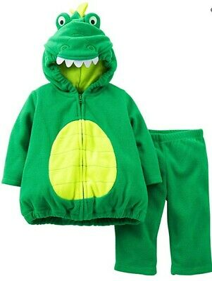 NEW Baby Boy Dinosaur Costume Fleece Green Dino Halloween Size 6-9 Months