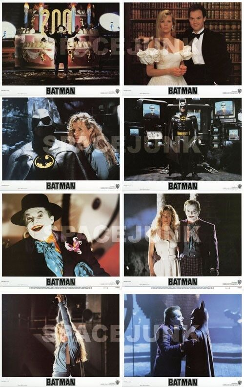 BATMAN Lobby Cards (1989) Complete Set of 8 LIMITED OFFER!!