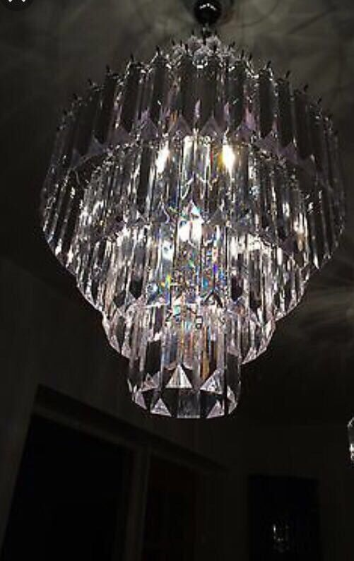 Brand new in box house of fraser linea xl arabella chandelier ceiling light rrp £200