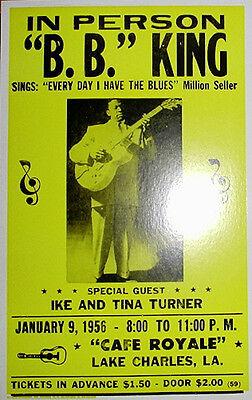 B.B. King 1956 Cafe Royale Concert Poster
