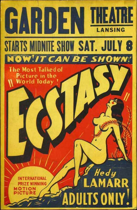 ECSTASY Movie POSTER 27x40 Hedy Lamarr Jaromir Rogoz Aribert Mog