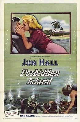 FORBIDDEN ISLAND Movie POSTER 11x17 John Farrow Jon Hall Nan Adams Jonathan (Jonathan Farrow)