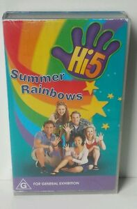 Hi5 Summer Rainbows Kids VHS Video * Free Post *  Hi five