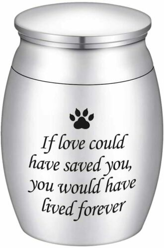 Small Cremation Urns for Pet Ashes Mini Dog Paw Keepsake Urn Stainless Steel