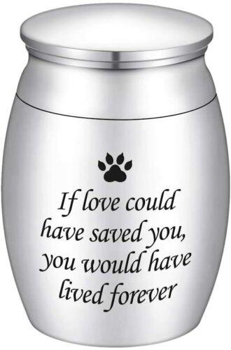 Small Cremation Urns for Pet Ashes Mini Dog Paw Keepsake Urn Dog/Cat Ashes Holde