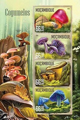 Mozambique 2016 MNH Mushrooms 4v M/S Cogumelos Nature Fungi Stamps