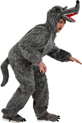 Wolf Overall Unisex Kostüm zu Karneval Fasching Halloween  (Wolf Halloween Kostüme)
