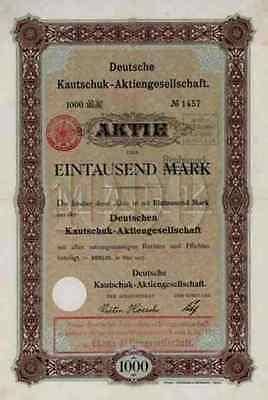 Deutsche Kautschuk 1907 KAMERUN Kolonial Victoria Duala 1000 Mark Ekona Gründer