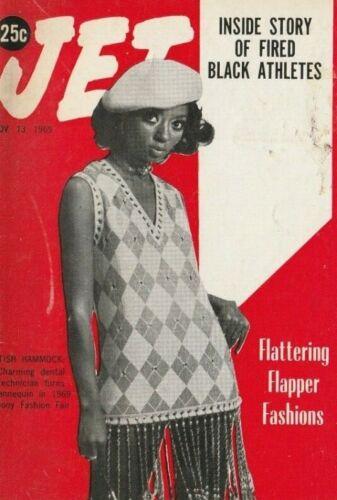 Fired Black Athletes, Fashion, Nov. 1969, Jet Magazine, Civil Rights, Equality