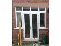 Patio Door with Casement Side Windows & Top Windows